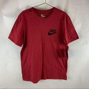 Nike Men's Size L Red Logo Tee